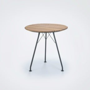 """Houe Gartentisch """"Circum"""", Ø 74 cm. Gestell Stahl schwarz, Tischplatte Bambus"""