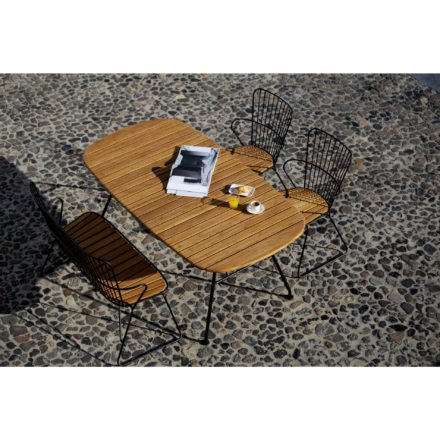 """Houe Tisch """"Beam"""" mit Diningstuhl und Bank """"Paon"""""""