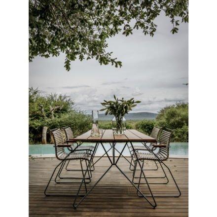 """Houe Gartenmöbel-Set mit Tisch 220cm """"Sketch"""" und Stapelsesseln """"Click"""""""