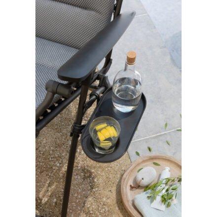 Lafuma Abstelltablett mit Getränkehalter, Kunststoff schwarz © LAFUMA MOBILIER - Pierrick Verny