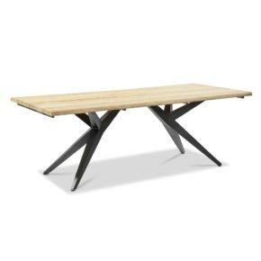 """Musterring Freilicht """"Holland"""" Gartentisch, Gestell Aluminium anthrazit, Tischplatte Teakholz, 220x95x76 cm"""