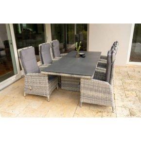 """Ploß Dining-Set 7-tlg. """"Miami"""" bestehend aus einem Dining-Tisch und sechs Dining-Sesseln"""