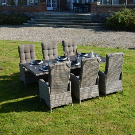 """Ploß Dining-Set 7-tlg. """"Rabida"""" bestehend aus einem Dining-Tisch und sechs Dining-Sesseln"""
