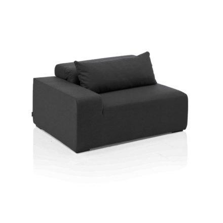 "Kettler ""Royal"" Lounge Seitenteil links, Gestell Aluminium, Polster Textilgewebe Sunbrella® anthrazit"