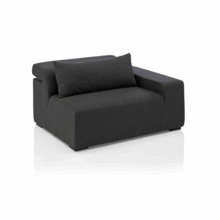 """Kettler """"Royal"""" Lounge Seitenteil rechts, Gestell Aluminium, Polster Textilgewebe Sunbrella® anthrazit"""