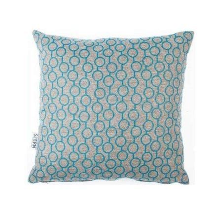 Stern Dekokissen 45x45cm, Dessin Kreise blau, Sunbrella®