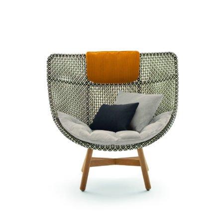 """DEDON Sessel """"MBRACE"""" mit Sitzauflage, Dekokissen und Nackenkissen"""