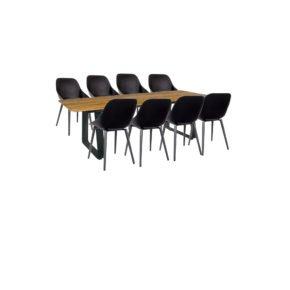 """Jati & Kebon Gartenmöbel-Set mit Tisch """"Elko"""" und Schalensessel """"Galati"""""""