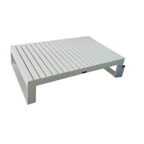 "Jati & Kebon Loungetisch ""Virginia"", Aluminum weiß, 120x75 cm"