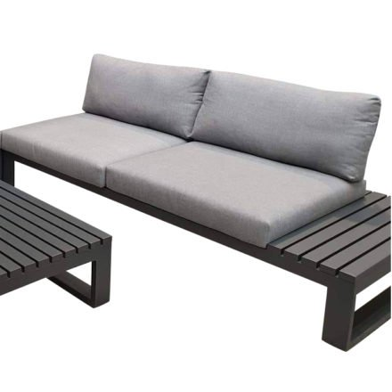 "Jati & Kebon Lounge-Seitenteil links ""Virginia"", Gestell Aluminium eisengrau, Polster Sunbrella® schiefergrau"