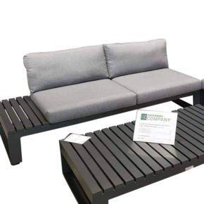 "Jati & Kebon Lounge-Seitenteil rechts ""Virginia"", Gestell Aluminium eisengrau, Polster Sunbrella® schiefergrau"