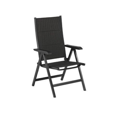 "Kettler Multipositionssessel ""Basic Plus Padded"", Aluminiumgestell anthrazit, Sitz-und Rückenfläche Textilen Twitchell anthrazit (charcoal) gepolstert"
