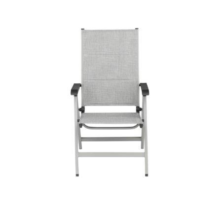 """Kettler Multipositionssessel """"Basic Plus Padded"""", Aluminiumgestell silber, Sitz-und Rückenfläche Textilen Twitchell hellgrau gepolstert"""