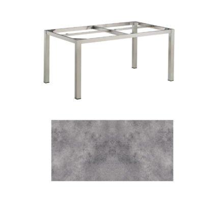 """Kettler Tischgestell 160x95cm """"Cubic"""", Edelstahl, mit Tischplatte HPL anthrazit"""