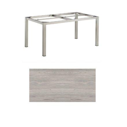 """Kettler Tischgestell 160x95cm """"Cubic"""", Edelstahl, mit Tischplatte HPL olive-grey"""