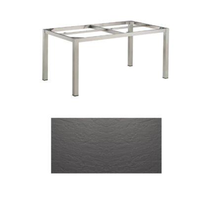 """Kettler Tischgestell 160x95cm """"Cubic"""", Edelstahl, mit Tischplatte Kettalux anthrazit"""