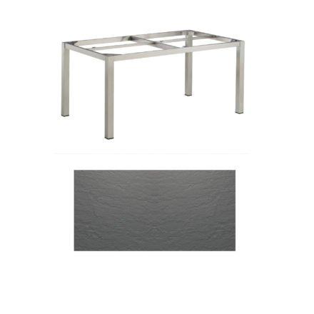"""Kettler Tischgestell 160x95cm """"Cubic"""", Edelstahl, mit Tischplatte Kettalux anthrazit-grau"""