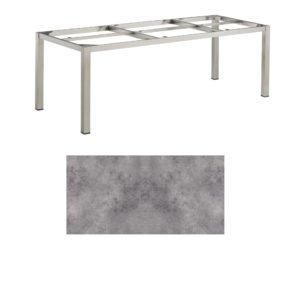 """Kettler Tischgestell 220x95cm """"Cubic"""", Edelstahl, mit Tischplatte HPL anthrazit"""