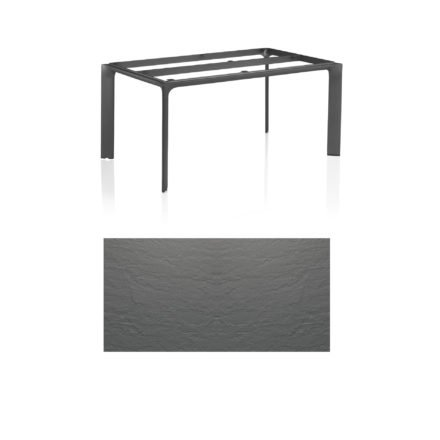 """Kettler Tischgestell 160x95cm """"Diamond"""", Alu anthrazit, mit Tischplatte Kettalux anthrazit-grau"""