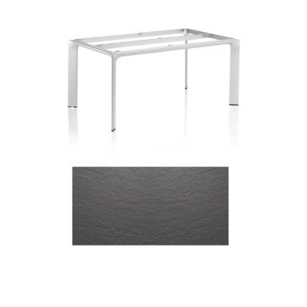 """Kettler Tischgestell 160x95cm """"Diamond"""", Alu silber, mit Tischplatte Kettalux anthrazit"""