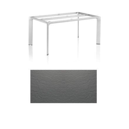 """Kettler Tischgestell 160x95cm """"Diamond"""", Alu silber, mit Tischplatte Kettalux anthrazit-grau"""