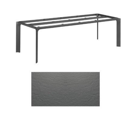 """Kettler Tischgestell 220x95cm """"Diamond"""", Alu anthrazit, mit Tischplatte Kettalux anthrazit-grau"""