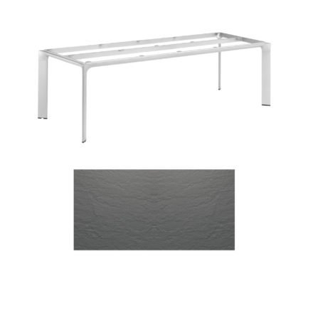 """Kettler Tischgestell 220x95cm """"Diamond"""", Alu silber, mit Tischplatte Kettalux anthrazit-grau"""