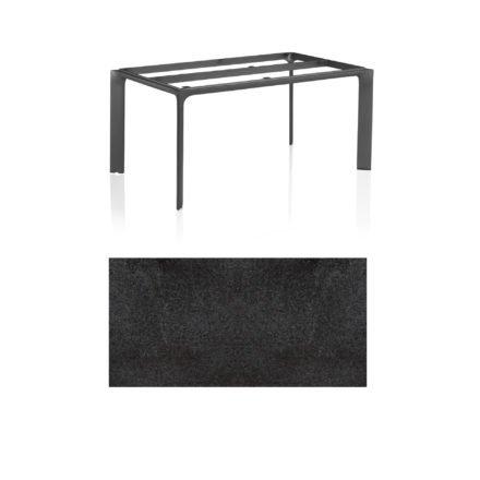 """Kettler Tischgestell 160x95cm """"Diamond"""", Alu anthrazit, mit Tischplatte HPL Stahl"""