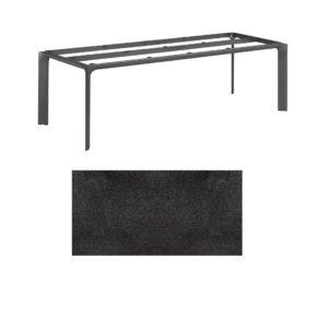"""Kettler Tischgestell 220x95cm """"Diamond"""", Alu anthrazit, mit Tischplatte HPL Stahl"""