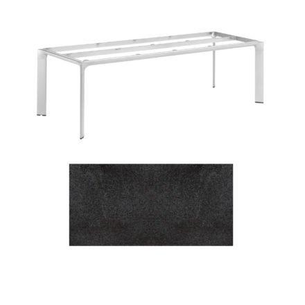 """Kettler Tischgestell 220x95cm """"Diamond"""", Alu silber, mit Tischplatte HPL Stahl"""