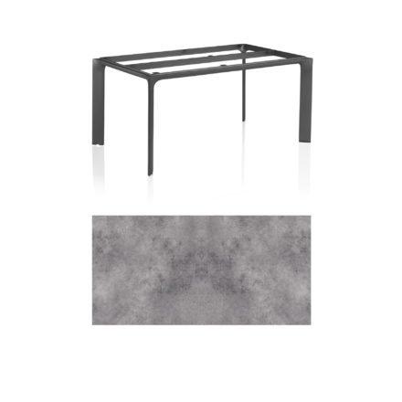 """Kettler Tischgestell 160x95cm """"Diamond"""", Alu anthrazit, mit Tischplatte HPL anthrazit"""