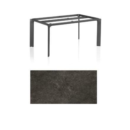 """Kettler Tischgestell 160x95cm """"Diamond"""", Alu anthrazit, mit Tischplatte Keramik anthrazit"""