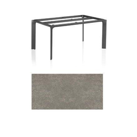 """Kettler Tischgestell 160x95cm """"Diamond"""", Alu anthrazit, mit Tischplatte Keramik grau-taupe"""