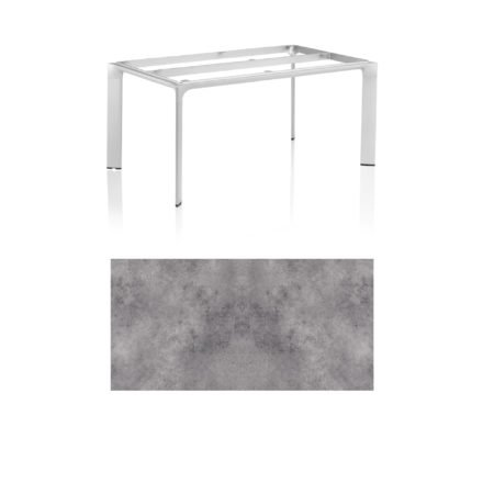 """Kettler Tischgestell 160x95cm """"Diamond"""", Alu silber, mit Tischplatte HPL anthrazit"""