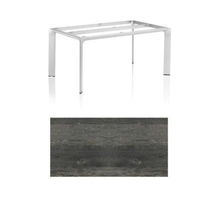 """Kettler Tischgestell 160x95cm """"Diamond"""", Alu silber, mit Tischplatte HPL pinie anthrazit"""