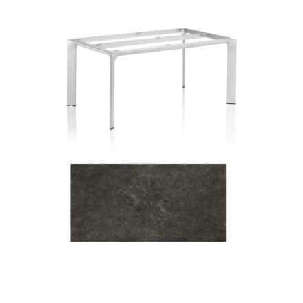 """Kettler Tischgestell 160x95cm """"Diamond"""", Alu silber, mit Tischplatte Keramik anthrazit"""