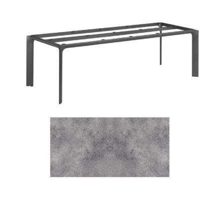 """Kettler Tischgestell 220x95cm """"Diamond"""", Alu anthrazit, mit Tischplatte HPL anthrazit"""
