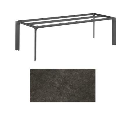 """Kettler Tischgestell 220x95cm """"Diamond"""", Alu anthrazit, mit Tischplatte Keramik anthrazit"""