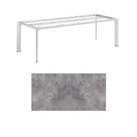 """Kettler Tischgestell 220x95cm """"Diamond"""", Alu silber, mit Tischplatte HPL anthrazit"""