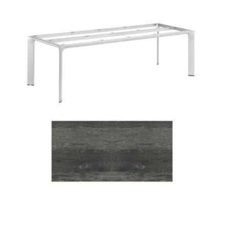 """Kettler Tischgestell 220x95cm """"Diamond"""", Alu silber, mit Tischplatte HPL pinie anthrazit"""