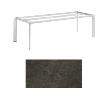 """Kettler Tischgestell 220x95cm """"Diamond"""", Alu silber, mit Tischplatte Keramik anthrazit"""