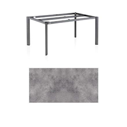 """Kettler Tischgestell 160x95cm """"Edge"""", Aluminium anthrazit, mit Tischplatte HPL anthrazit"""