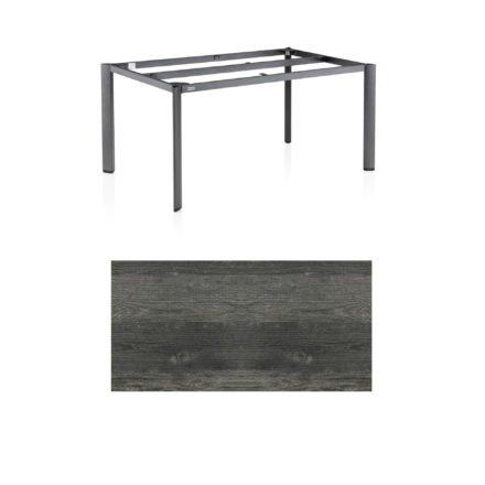 """Kettler Tischgestell 160x95cm """"Edge"""", Aluminium anthrazit, mit Tischplatte HPL pinie-anthrazit"""