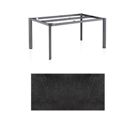 """Kettler Tischgestell 160x95cm """"Edge"""", Alu anthrazit, mit Tischplatte HPL StahlKettler Tischgestell 160x95cm """"Diamond"""", Alu anthrazit, mit Tischplatte HPL Stahl"""
