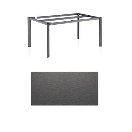 """Kettler Tischgestell 160x95cm """"Edge"""", Aluminium eisengrau, mit Tischplatte Kettalux anthrazit"""