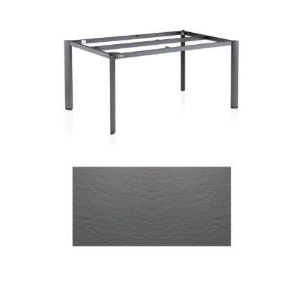 """Kettler Tischgestell 160x95cm """"Edge"""", Aluminium eisengrau, mit Tischplatte Kettalux anthrazit-grau"""