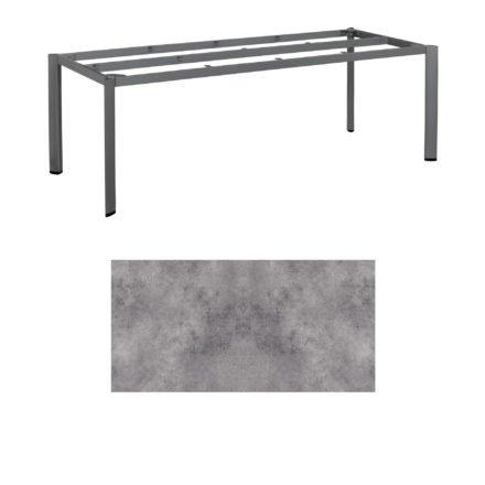 """Kettler Tischgestell 220x95cm """"Edge"""", Aluminium anthrazit, mit Tischplatte HPL anthrazit"""