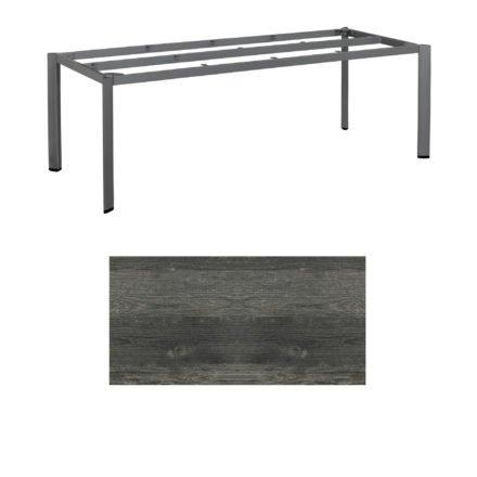 """Kettler Tischgestell 220x95cm """"Edge"""", Aluminium anthrazit, mit Tischplatte HPL pinie-anthrazit"""