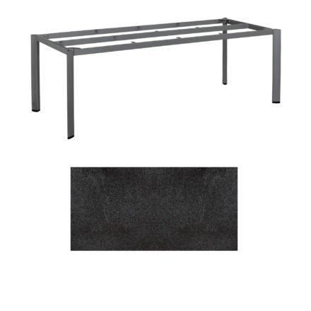 """Kettler Tischgestell 220x95cm """"Edge"""", Alu anthrazit, mit Tischplatte HPL Stahl"""