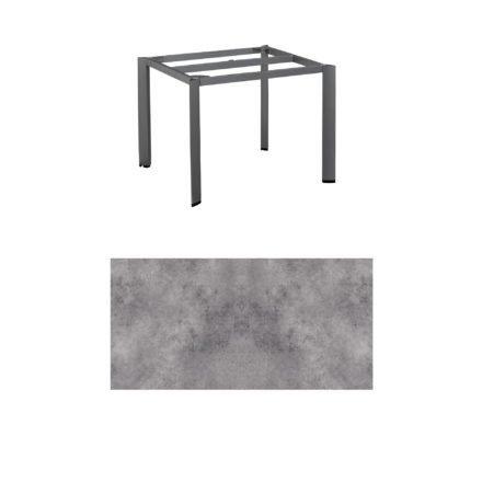 """Kettler Tischgestell 95x95cm """"Edge"""", Aluminium anthrazit, mit Tischplatte HPL anthrazit"""